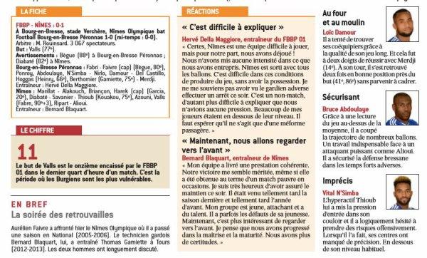 2016 Ligue 2 J28 BOURG en BRESSE NÎMES 0-1, le 03/03/2017