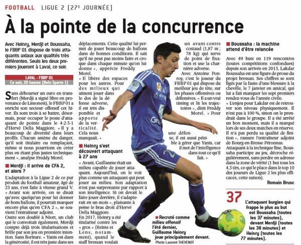 2016 Ligue 2 J27 LAVAL BOURG en BRESSE 2-4, le 24/02/2017