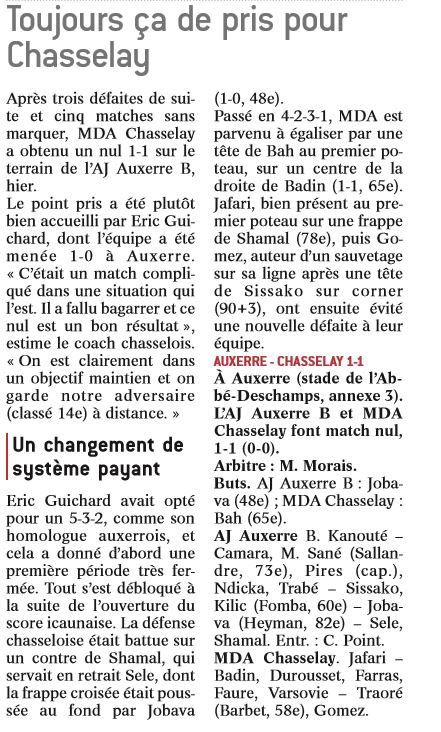 2016 CFA J23 AUXERRE CHASSELAY 1-1, le 18/03/2017
