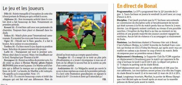 2016 Ligue 2 J30 SOCHAUX NÎMES 2-1, le 17/03/2017
