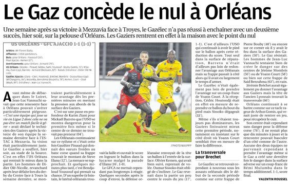 2016 Ligue 2 J30 ORLEANS GAZELEC 1-1, le 17/03/2017