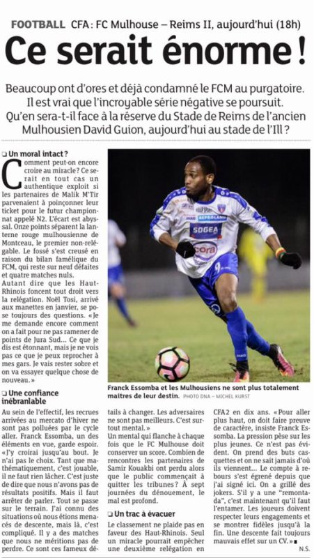 2016 CFA J24 MULHOUSE REIMS , l'avant match, le 25/03/2017