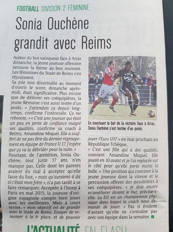 2016 D2 Féminines J17  REIMS ARRAS 1-0, le 26/03/2017
