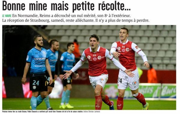 2016 Ligue 2 J31 LE HAVRE REIMS 1-1, le 31/03/2017