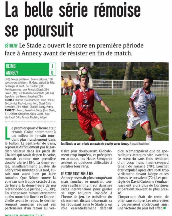 2016 CFA J25 REIMS ANNECY 1-0, le 08/04/2017