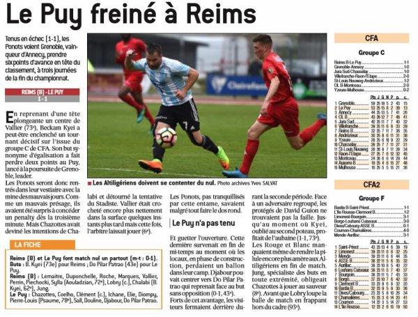 2016 CFA J27 REIMS LE PUY 1-1, le 22/04/2017
