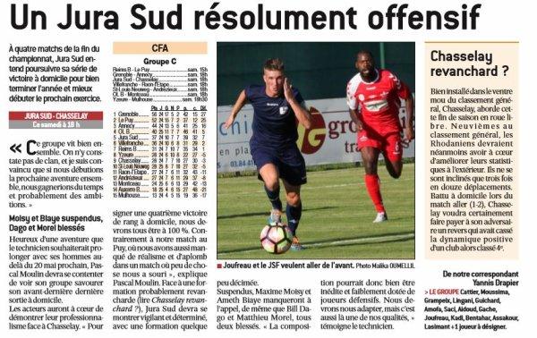 2016 CFA J27 JURA SUD CHASSELAY 1-0, le 22/04/2017