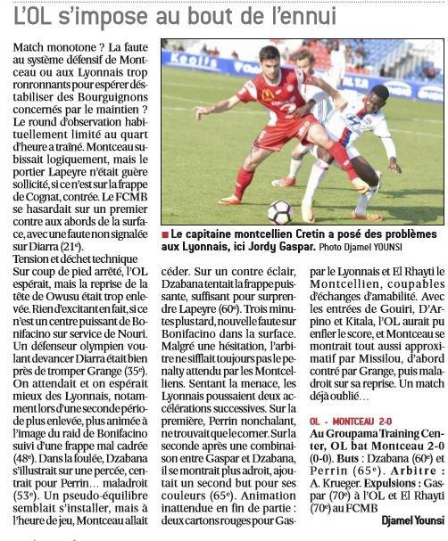 2016 CFA J27 LYON MONTCEAU 2-0, le 22/04/2017