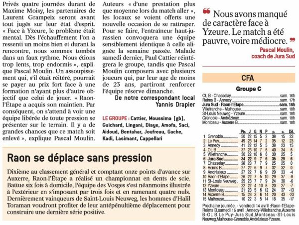 2016 CFA JURA SUD RAON L'ETAPE 4-1, le 08/04/2017