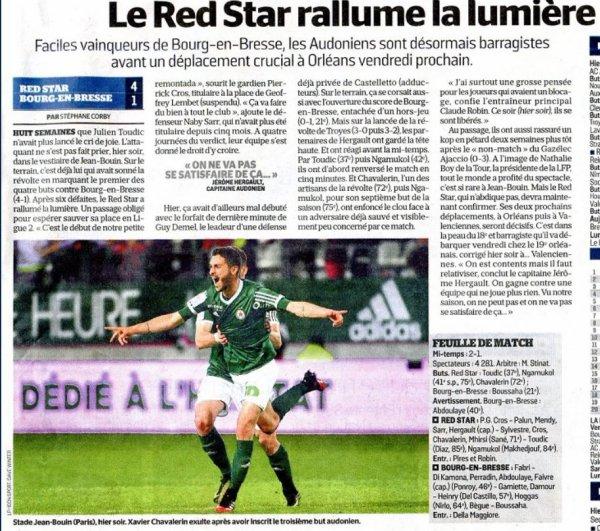 2016 Ligue 2 J34 RED STAR BOURG en BRESSE 4-1, le 21/04/2017