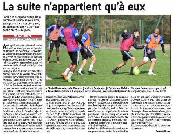 2016 Ligue 2 J32 ORLEANS BOURG en BRESSE 1-0, le 07/04/2017