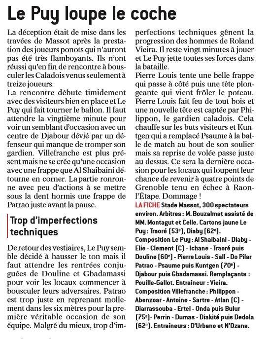 2016 CFA J28 LE PUY VILLEFRANCHE 0-0, le 29/04/2017