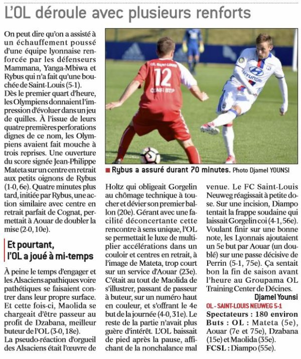 2016 CFA J28 LYON SAINT LOUIS 5-1, le 29/04/2017
