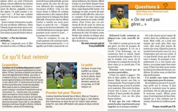 2016 Ligue 2 J33 TOURS SOCHAUX 3-1, le 14/04/2017