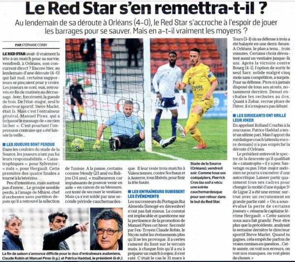 2016 Ligue 2 J35 ORLEANS RED STAR 4-0, le 28/04/2017