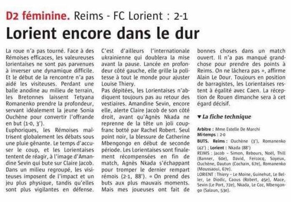 2016 D2 Féminines J20 REIMS LORIENT 2-1, le 07/05/2017