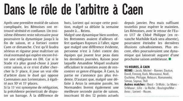 2016 D2 Féminines J21 AVANT GARDE CAENNAISE  REIMS 1-1, le 14/05/2017