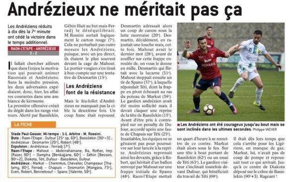 2016 CFA J30 RAON L'ETAPE  ANDREZIEUX 3-2, le 20/05/2017