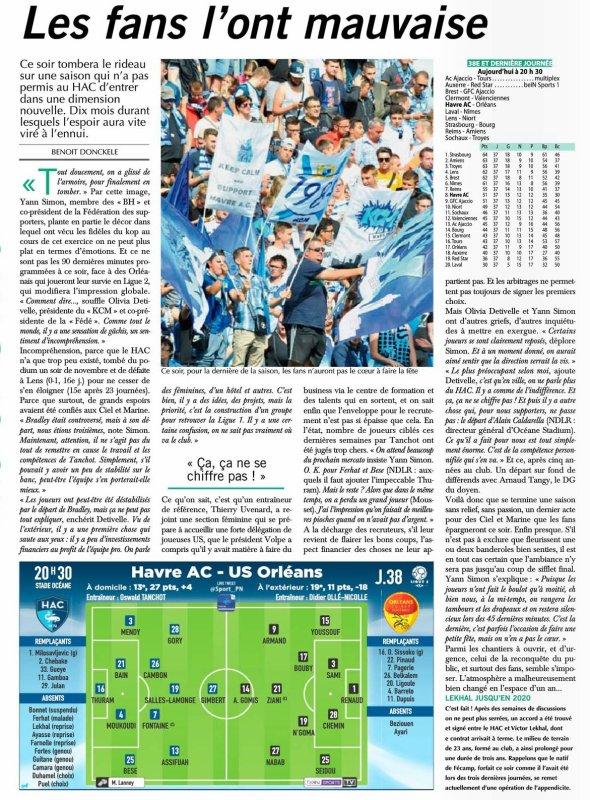 2016 Ligue 2 J30 LE HAVRE ORLEANS 4-1, le 19/05/2017