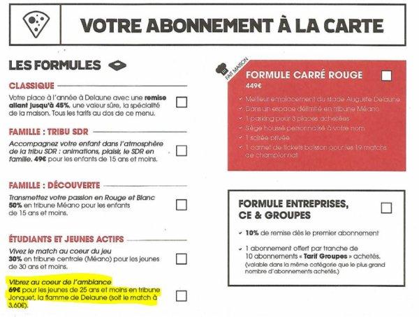 2017 ABONNEMENTS : Le BARRAGE n'est pas envisagé, le 05/06/2017