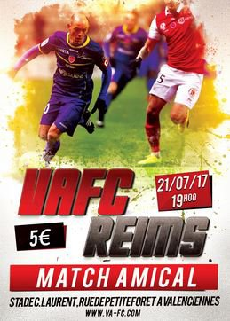 2017 AMICAL VALENCIENNES REIMS, l'avant match, le 21/07/2017
