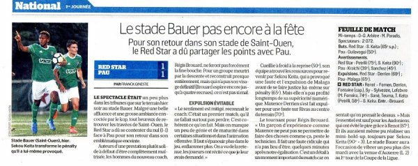 2017 NATIONAL 1 J01 RED STAR PAU 1-1, le 04/082017