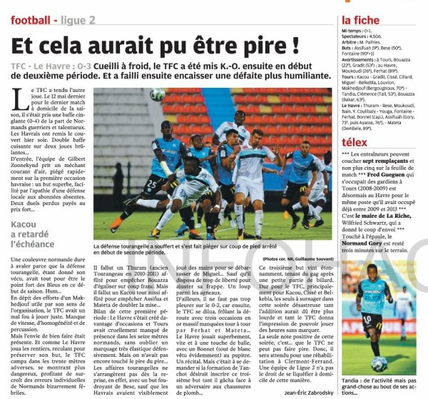 2017 Ligue 2 J01 TOURS LE HAVRE 0-3, le 28/07/2017