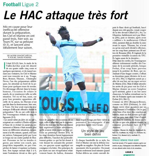 2017 Ligue 2 J01 TOURS LE HAVRE 0-3, le 28/07/2017