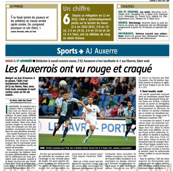 2017 Ligue 2 J02 LE HAVRE AUXERRE 4-1, le 04/08/2017