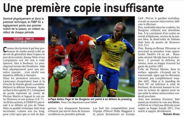 2017 Ligue 2 J01 SOCHAUX BOURG en BRESSE 2-0, le 28/07/2017