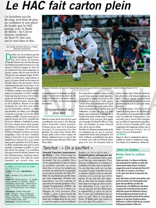 2017 Ligue 2 J03 PARIS FC LE HAVRE 0-3, le 11/08/2017