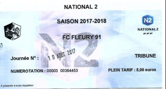 2017 NATIONAL 2 J02 FLEURY REIMS 3-2, le 19/08/2017