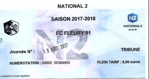 2017 NATIONAL 2 J02 FLEURY REIMS 3-2, le 19/08/2017