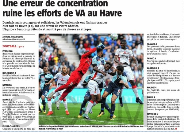 2017 Ligue 2 J04 LE HAVRE VALENCIENNES 1-0, le 18/08/2017