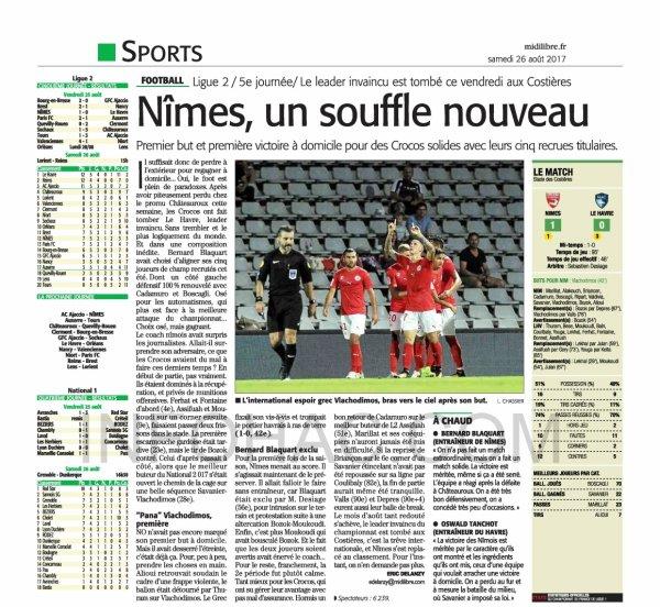 2017 Ligue 2 J05 NÎMES LE HAVRE 1-0, le 25/08/2017