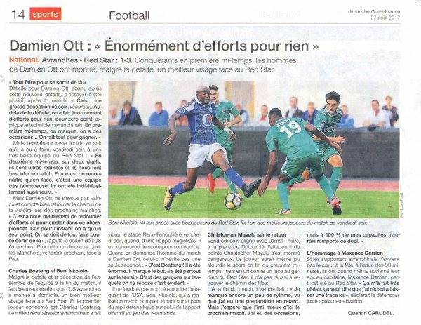 2017 NATIONAL 1 J04 AVRANCHES RED STAR 1-3, le 25/08/2017