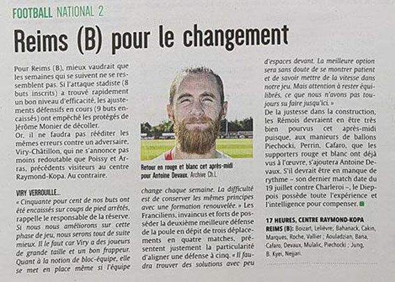 2017 NATIONAL 2 J05 REIMS VIRY-CHÂTILLON , match arrêté , le 09/09/2017