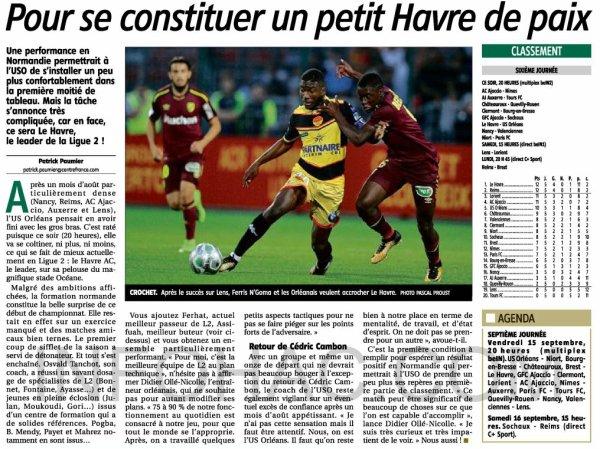 2017 Ligue 2 J06 LE HAVRE ORLEANS 1-1, le 08/09/2017