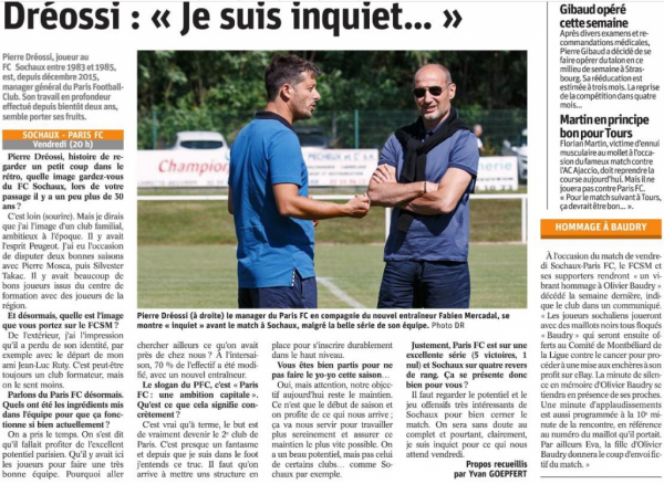 2017 Ligue 2 J11 SOCHAUX PARIS FC 1-0, le 13/10/2017