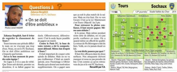 2017 Ligue 2 J12 TOURS SOCHAUX 0-1, le 20/10/2017