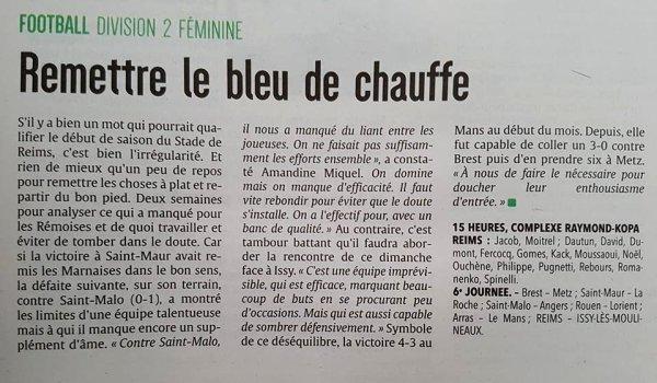 2017 D2 Féminines J07 REIMS ISSY les MOULINEAUX 3-0 , le 29/10/2017