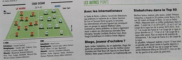 2017 Ligue 2 J14 LE HAVRE REIMS, l'avant match, le 06/11/2017