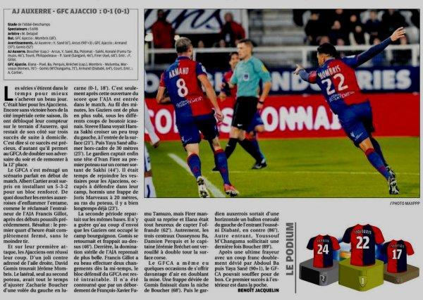 2017 Ligue 2 J14 AUXERRE GAZELEC 0-1, le 03/11/2017