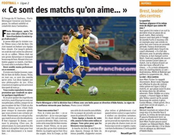 2017 Ligue 2 J16 BREST SOCHAUX 1-0, le 24/11/2017