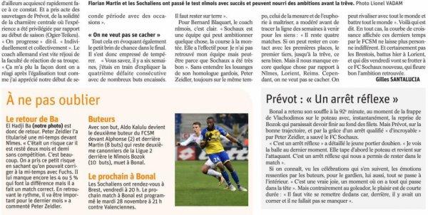 2017 Ligue 2 J15 SOCHAUX NÎMES 2-1, le 17/11/2017