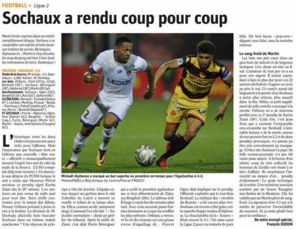 2017 Ligue 2 J14 ORLEANS SOCHAUX 3-3, le 03/11/2017