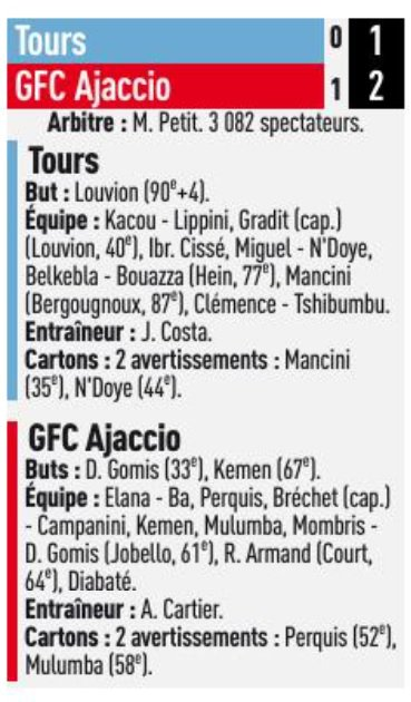 2017 Ligue 2 J16 TOURS GAZELEC 1-2, le 24/11/2017