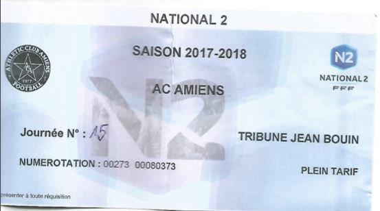 2017 NATIONAL 2 J15 ( joué avant J13) AMIENS AC REIMS 1-0, le 02/12/2017