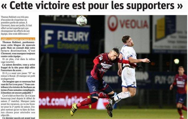 2017 Ligue 2 J19 CLERMONT SOCHAUX 0-2, le 15/12/2017