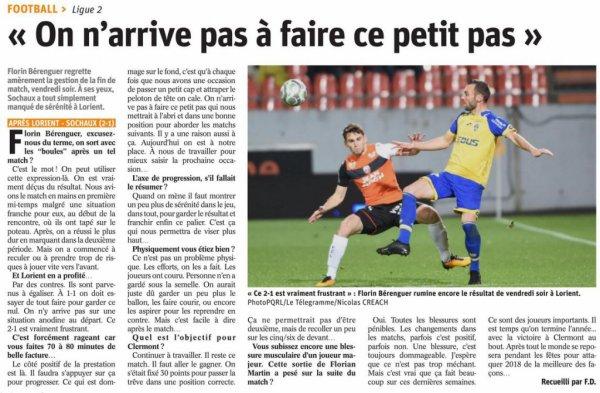 2017 Ligue 2 LORIENT SOCHAUX 2-1, le 08/12/2017